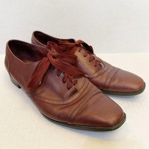 Etienne Aigner Hula Burgundy Leather Oxfords